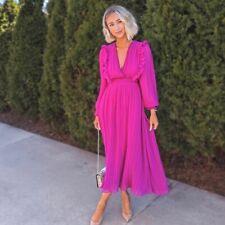 NWT Zara Blogger's Fav Purple Pleated Midi Dress 4387/043