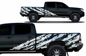 Maßgefertigt Vinyl Aufkleber Spur Wrap Für : Toyota TACOMA 4D Lang Bett Truck
