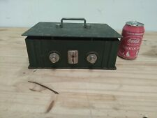 """70´s Vintage COFFER """"SIAL"""" Portable Cast Iron strong Safe deposit box Money gold"""