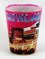 CLEVELAND OHIO PINK PHOTO COLLAGE SHOT GLASS SHOTGLASS