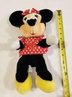 "Vintage Minnie Mouse Disney World Disneyland Red Polka Dot Disneyland Plush 14"""