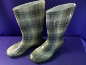 Women's Decorative Design Rubber Rain Boots Size 8 EXCELLENT