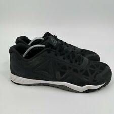 Reebok Mens Workout TR 2.0 CN0967 Lace Up Low Top Black Running Shoes Size 11