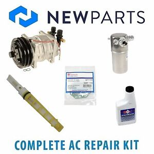 For Volvo 240 1990 NEW AC A/C Repair Kit w/ Compressor & Clutch