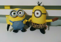 MINION PLUSH TOYS CAVE PERSON AND BOB CHARACTER TOYS DESPICABLE ME 14CM