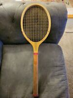 """1920's Ex Cond E. Kent """"Windsor"""" Red Trim Antique US Tennis Racquet – Vintage"""