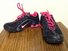 Nike Shox Navina Womens Black/Pink Size 6 Running Sneakers 356918-063 Rare Color
