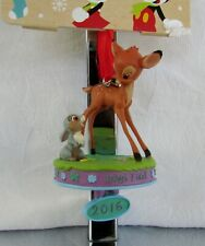 Disney Store Sketchbook Ornament 2016 Bambi Thumper Baby's First NWT