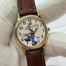 GOOFY Disney Classic, 3D, Brown Leather Band, Nice, Mens/Unisex/Kids WATCH 335