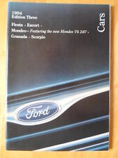 FORD CARS 1994/09 UK Market prestige brochure - Fiesta, Escort Si Mondeo Granada