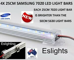 4X 25CM LED STRIP LIGHT BAR TOOL BOX WORK SHED BENCH 4WD UTE CAMPING LIGHT BOAT