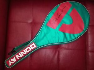 DONNAY SINGLE TENNIS RACKET HEAD COVER AUTOGRAPHED BY NICK BOLLETTIERI BUY $50