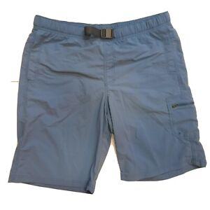 Columbia Omni-Shade Shorts Mens Size 38 x 11L Large Blue Fishing Sun Protection