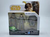 New Star Wars Solo 3 3/4-Inch Action Figure - Chewbacca & Han Solo (Mimban) NIB
