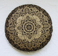 "32"" Round Mandala Pouf Pillow Bohemian Throw New Meditation Floor Cushion Cover"