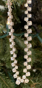 """Beautiful Graduated 15"""" 925 Sterling Silver 925 Round CZ Tennis Necklace *213"""