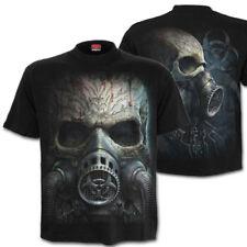 Spiral BIO SKULL Gothic T-Shirt Apokalypse Fallout Cyber Totenkopf  Maske Horror