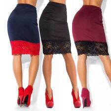 Women Pencil Bandage High Waisted Bodycon Ladies Semless Short Mini Skirt Plain