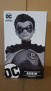 *BATMAN BLACK & WHITE ROBIN STATUE FRANK QUITELY DC COLLECTIBLES SUPERMAN