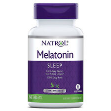 Natrol Melatonin With Vitamin B6 5mg Drug Free Nighttime Sleep Aid - 60 Tablets