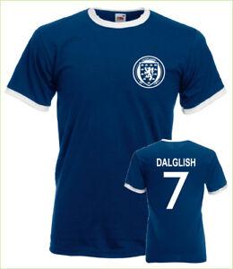 Kenny Dalglish Scotland No.7 Mens Retro Football Ringer T-Shirt