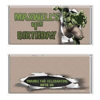 The Hulk Theme Chocolate Wrappers Printable Digital - Print At Home
