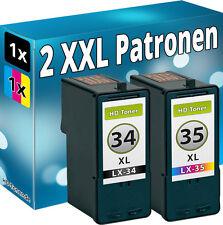 SET 2x DRUCKER PATRONE für LEXMARK 34+35 XL P6250 P910 P915 P4310 P4330 P4350