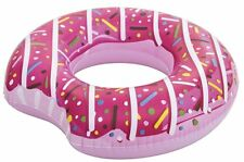 Large Inflatable Pink Donut Rubber Ring Swimming Pool Float Lilo Lounger 36118