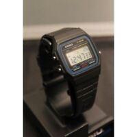 9a Black Sports Alarm Digital Resin Casio F91wg Classic Chronograph OP80wknX