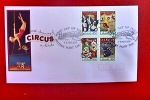 CIRCUS  OF AUST FDC  1997 FDCBATTERY POINT FDI PICTORIAL  PMK