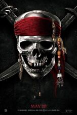 PIRATES OF THE CARIBBEAN ON STRANGER TIDES MOVIE POSTER DS ORIGINAL MAY 20 27x40