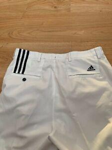 Men's Adidas Climacool Golf Trousers in White Size 34 waist 32 leg / 99p start !