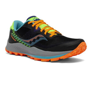 Saucony Mens Peregrine 11 Trail Running Shoes Trainers Sneakers Black Sports