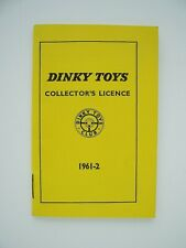 Dinky Toys Collector's Licence 1961-62
