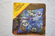 Columbia Minerva Pansies Needlepoint Pillow Kit Judith Gross 1530 OPENED 1972