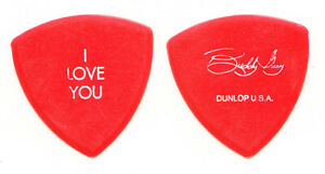 Vintage Buddy Guy Signature Concert-Used I Love You Red Guitar Pick - 1994 Tour