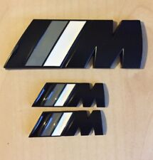 ///M Sport Small Emblem Black M Power Metal Set (2x Wings + 1x Boot Badge) BMW