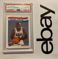 Michael Jordan PSA 6 Hoops 1991 Last Dance Collector Card USA BASKETBALL #579 NR