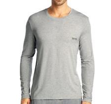 Hugo Boss Men's Modal Long Sleeve Pajama Top Loungewear Shirt Gray 50188508