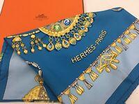 """Auth Hermes Scarf """"Parures Des Sables"""" 100% Silk  9H070070n"""""""