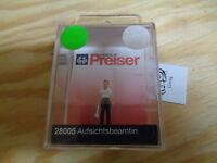 H0 Preiser 28005 Agent de surveillance figure. emballage d'origine