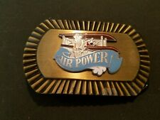 Belt Buckle Collectors Items VINTAGE AIR POWER BIPLANE AIRPLANE AIRCRAFT
