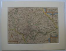 Staffordshire: antique map by Saxton & Kip, 1607 (1637 edition)