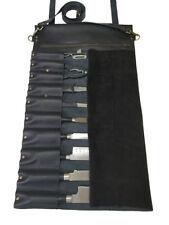 Professional Lightweight Genuine Premium Leather 10 Slots Chef Knife Bag/Roll K2