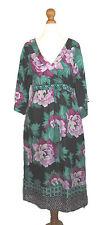 Monsoon Kaftan Dress Colourful Silk Hippy Boho UK 10 With Tags