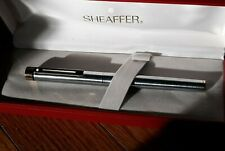 Sheaffer Targa Chrome with Gold Trim Fountain Med Nib NOS