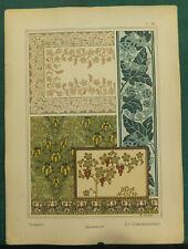 Grozeiller Dozoul Grasset lithographie Art-nouveau fin XIXe siècle Plantes