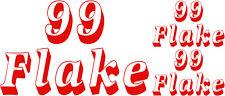 99 Flake, Ice Cream Van Stickers Decals, Vinyl Graphic Ice Cream Shop Stickers