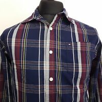 Tommy Hilfiger Boys Shirt XL 16-18 Long Sleeve Regular Fit Check Cotton