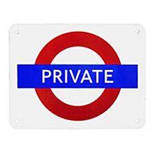 """"""" privé """" métro de Londres ÉMAILLÉ ACIER AIMANT DE réfrigérateur (GG)"""